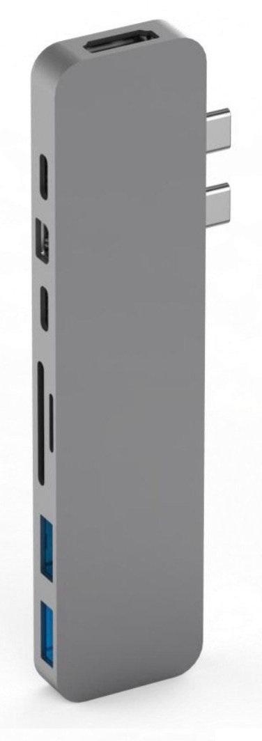 USB-концентратор HyperDrive PRO 8-in-2 GN28D для MacBook Pro 2016/2017 (Space Grey)