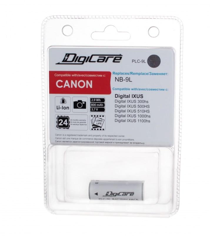 Аккумулятор DigiCare PLC-9L / NB-9L / IXUS 300HS, 500HS, 510HS, 1000HS, 1100HS, PowerShot N