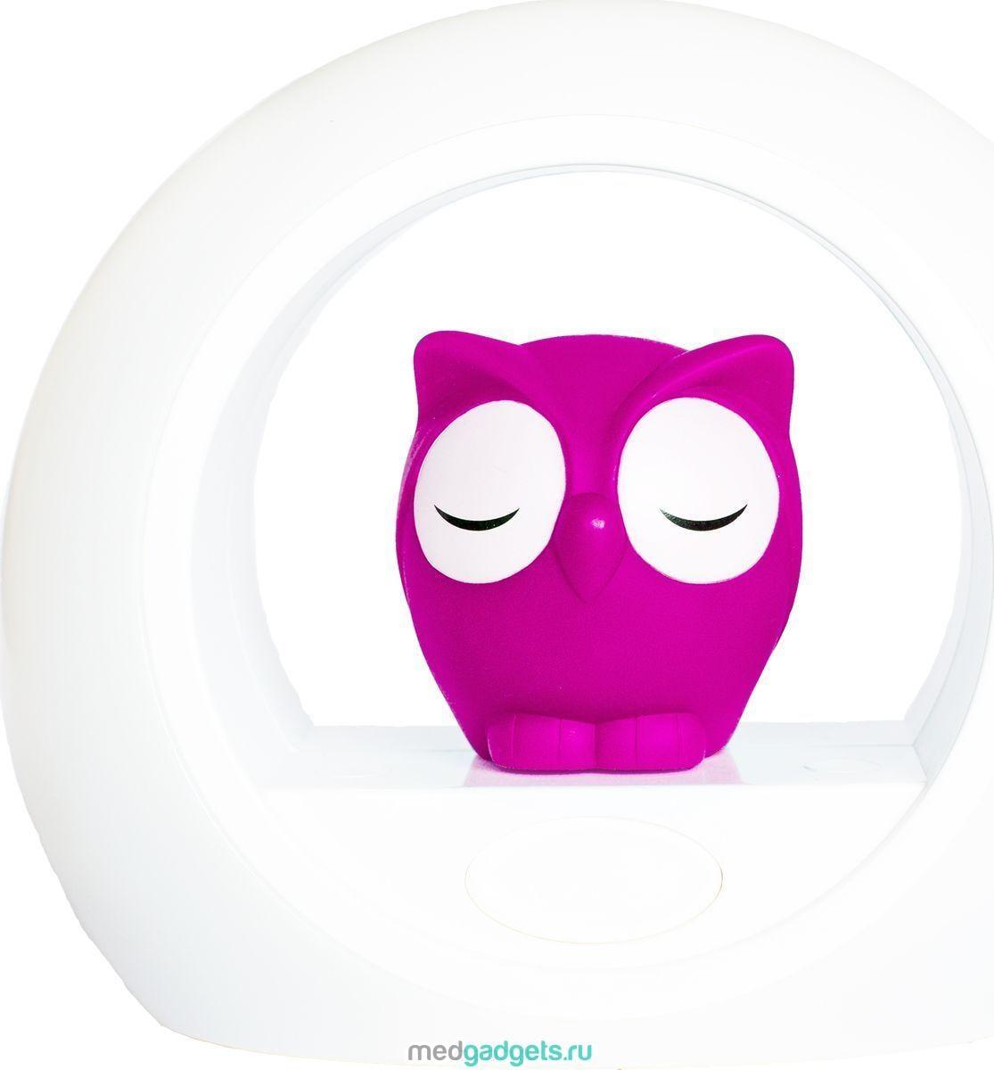 ZAZU Ночник детский Сова Лу цвет розовый