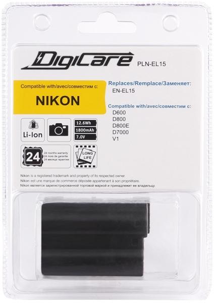 Аккумулятор DigiCare PLN-EL15 / EN-EL15 для D600, D800, D800E, D7000, D7100, Nikon 1 V1