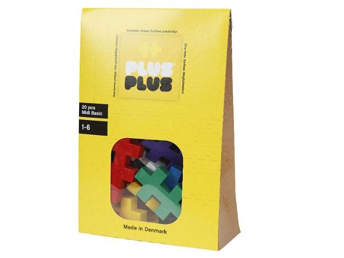 Игрушка-конструктор Plus-Plus Midi 20 Basic