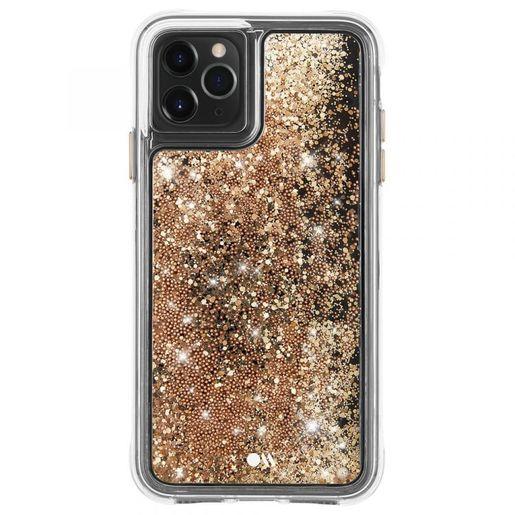 Чехол Case-Mate Waterfall для iPhone 11 Pro Max. Цвет прозрачный золотой.