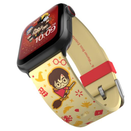 Ремешок MobyFox Harry Potter - Cartoon, желтый (для Apple Watch, все размеры)