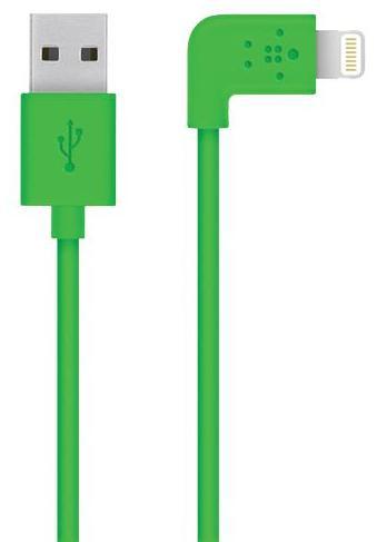 Belkin Mixit 90° 1.2 m (F8J147BT04-GRN) - кабель USB-Lightning (Green)