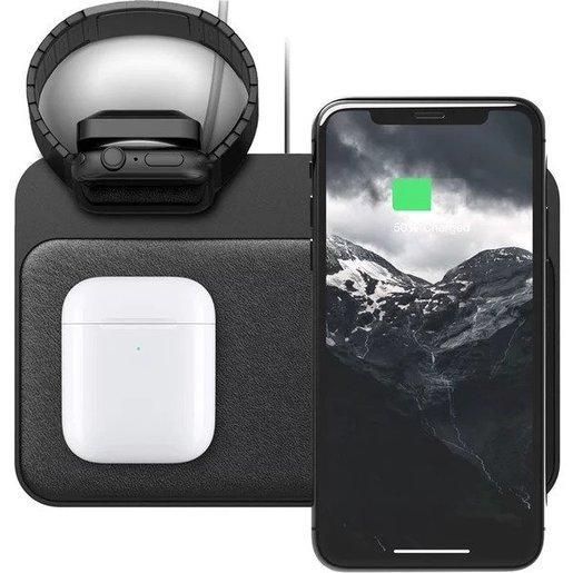 Беспроводное зарядное устройство Nomad Base Station Apple Watch Edition Stand + USB-C PD, USB-A для Apple Watch и других устройств с функцией беспроводной зарядки