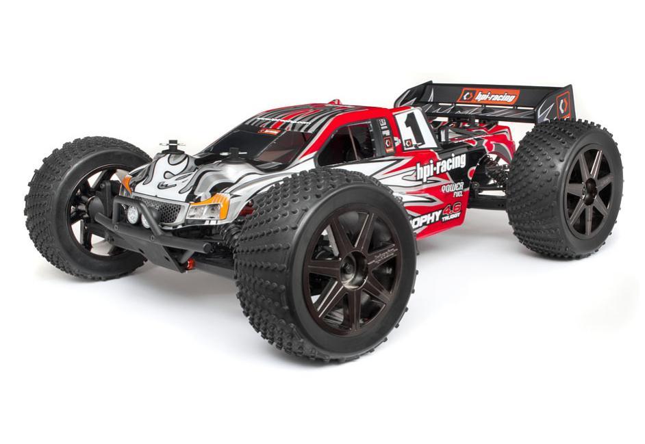 HPI Racing Радиоуправляемая машина Трагги 1/8 нитро - Trophy 4.6 Truggy RTR (радио 2.4GHz / влагозащита) (NEW)