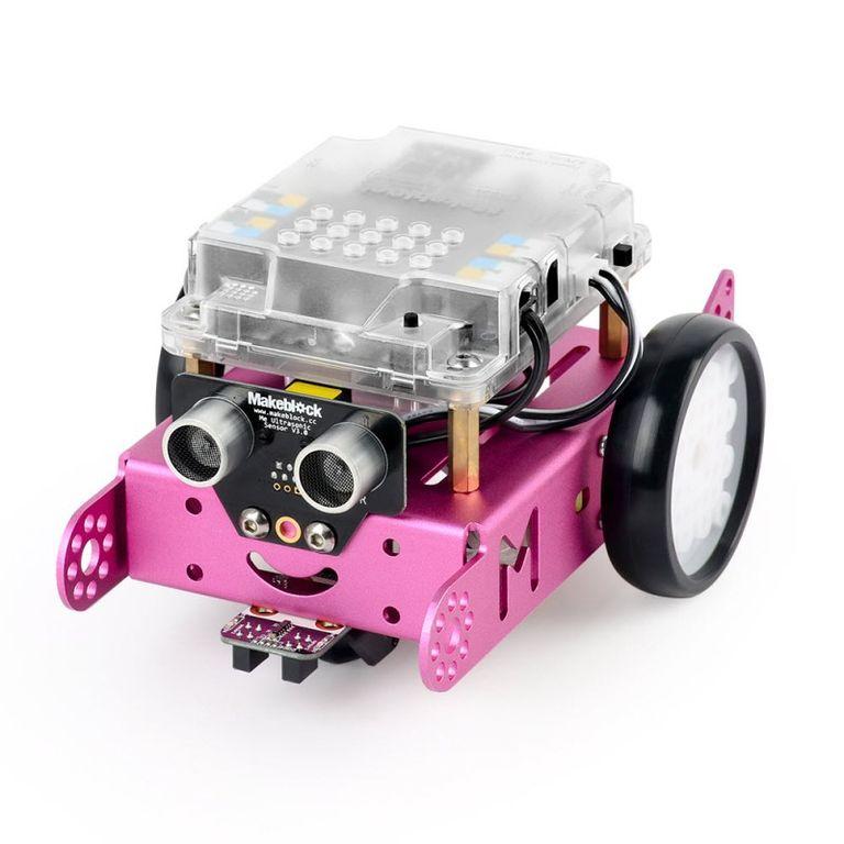 Робототехнический набор mBotV1.1-Pink (Bluetooth-версия)
