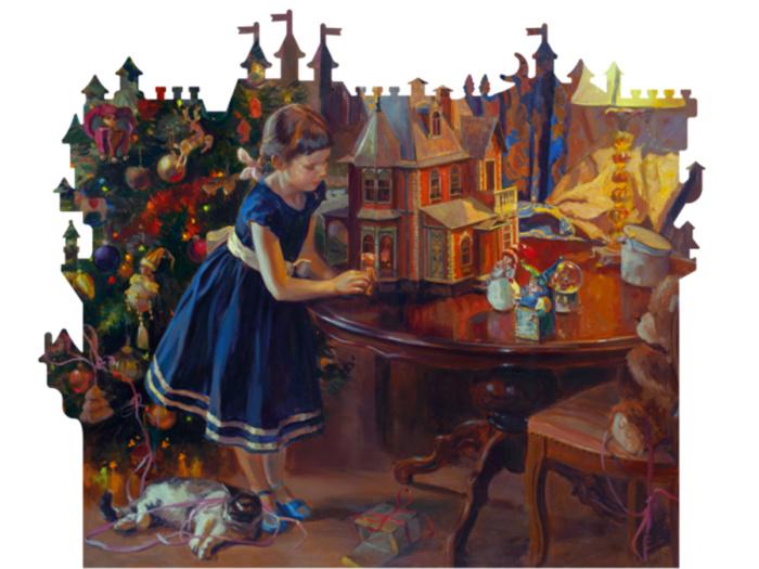 Деревянный пазл DaVICI Кукольный домик