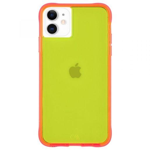 Чехол Case-Mate Tough NEON для iPhone 11. Цвет желтый/розовый.