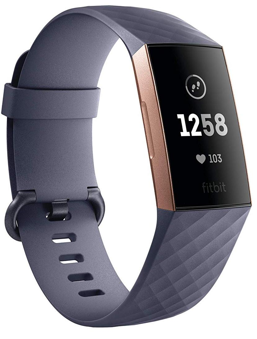 Спортивный браслет Fitbit Charge 3 (Blue Grey/Rose Gold Aluminum)