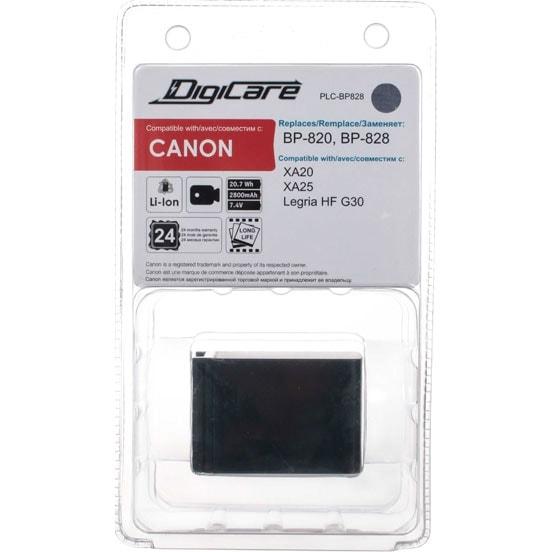 DigiCare PLC-BP828 / BP-828, BP-820 для камер XA20, XA25, Legria G30