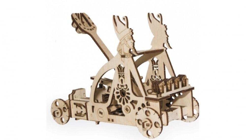 Механический 3D-пазл из дерева Wood Trick Катапульта
