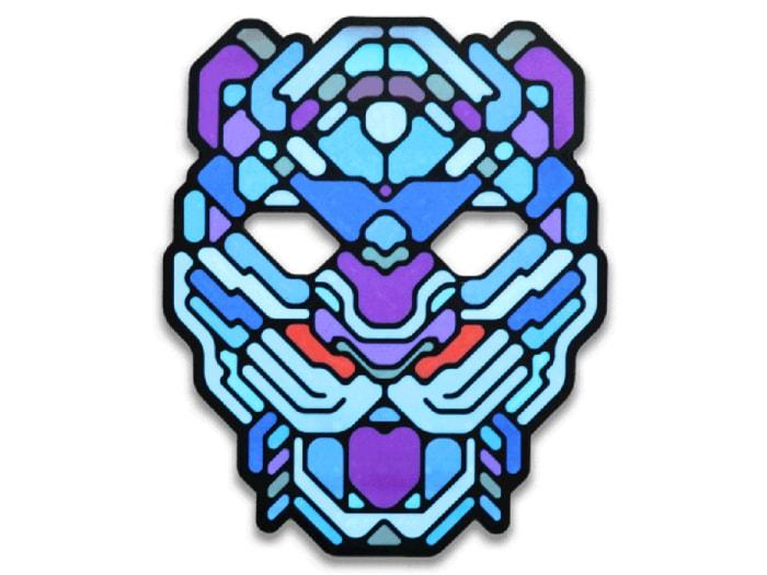 Cветовая маска с датчиком звука GeekMask Cyber Tiger