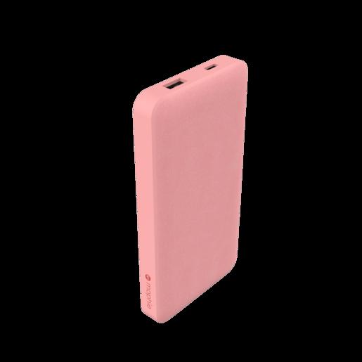 Внешний портативный аккумулятор Mophie Universal Battery Powerstation with PD 10K. Порты: USB Type-A, USB Type-C. Тип аккумулятора: литий-полимерный. Емкость аккумулятора: 10 000 мАч. Питание от USB. Внешняя отделка: ткань. Цвет: розовый.