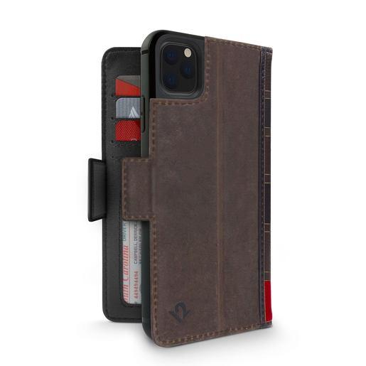 Чехол-книжка Twelve South BookBook Vol 2 для iPhone 11 Pro. Материал натуральная кожа. Цвет коричневый.