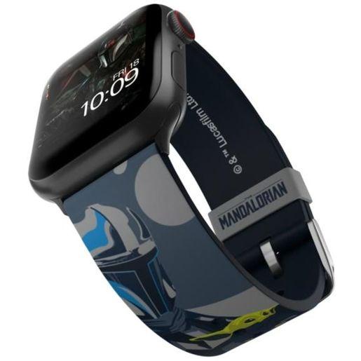 Ремешок MobyFox STAR WARS - Mandalorian Beskar, синий (для Apple Watch, все размеры)
