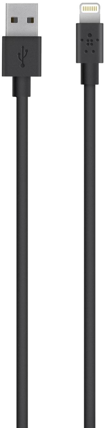 Belkin Mixit UP 1.2 м (F8J023BT04-BLK) - кабель USB-Lightning (Black)