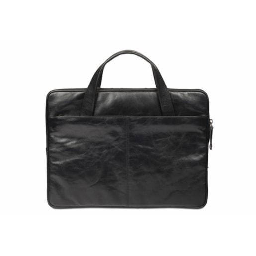 """Сумка dbramante1928 Silkeborg для ноутбуков 13"""" дюймов. Материал натуральная кожа. Цвет: черный."""