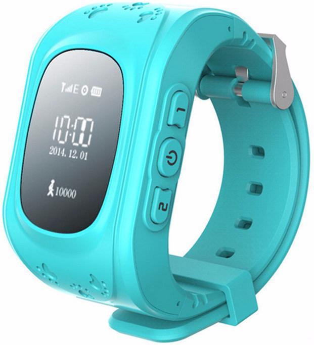 Кнопка жизни К911 - детские часы-телефон с GPS-геолокацией (Light Blue)