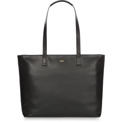 "Сумка Knomo Maddox Leather Tote для ноутбука до 15"". Материал кожа натуральная. Цвет черный."