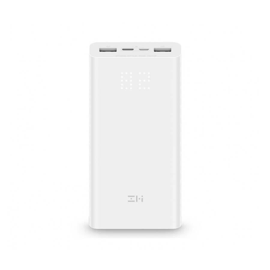 Внешний аккумулятор Power Bank Xiaomi (Mi) ZMI Aura 20000 mAh Micro USB/Type-C Quick Charge 3.0, белый