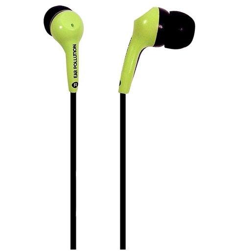 Наушники iFrogz EarPollution проводные вставные. Цвет зеленый.