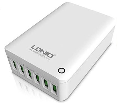 LDNIO Rapid charging (A6703) - зарядное устройство на 6 портов (White)