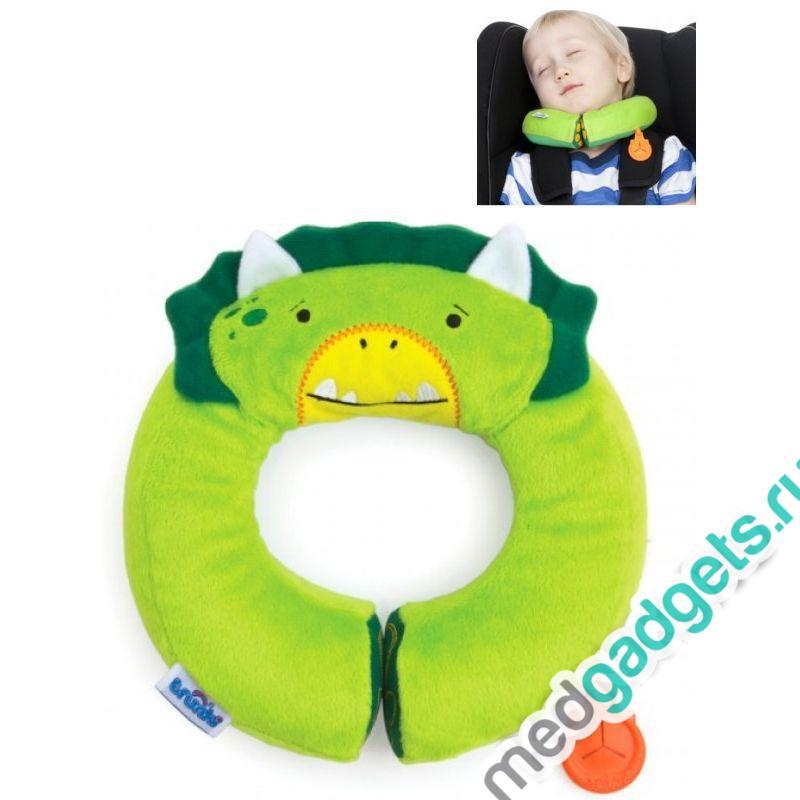 Подголовник детский Yondi Динозавр, зеленый Trunki