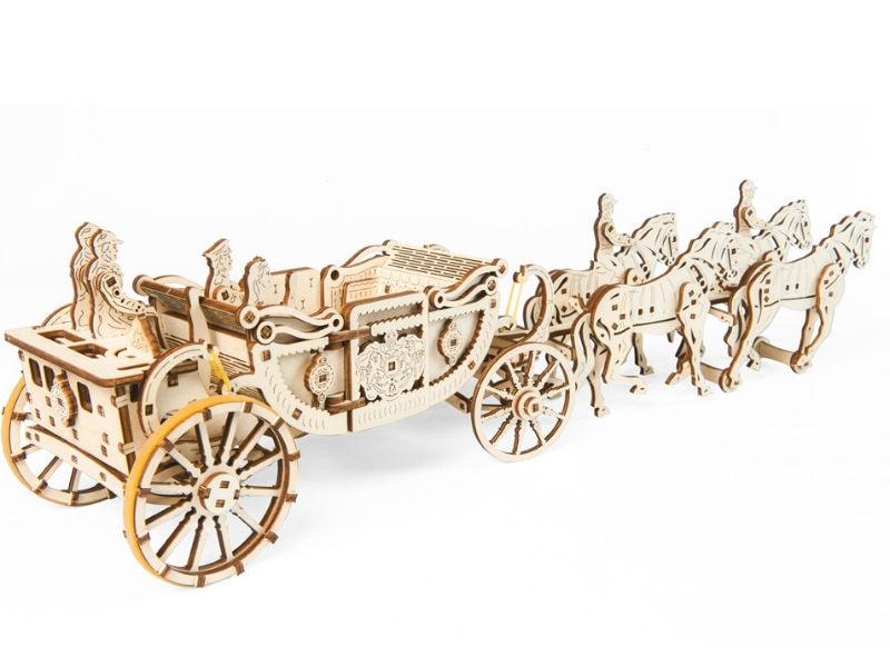 3D-пазл UGears Королевская карета (Royal Сarriage)