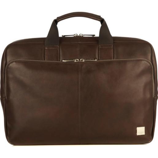 """Сумка Knomo Newbury для ноутбука до 15"""". Материал кожа натуральная. Цвет коричневый."""