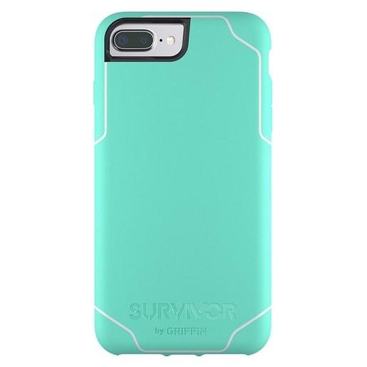 Чехол Griffin Survivor Journey для iPhone Plus 7/6s/6. Материал пластик. Цвет салатовый/белый.