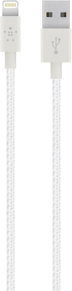 Belkin Mixit Metallic 1.2 m (F8J144bt04-WHT) - кабель USB-Lightning (White)