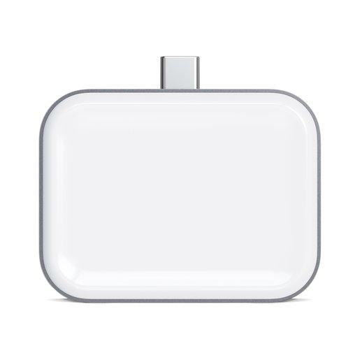 Беспроводная зарядка Satechi USB-C Wireless Charging Dock для AirPods. Цвет серый космос