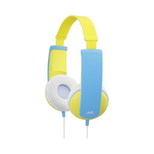 Наушники JVC проводные детские, модель HA-KD5-Y-EF, серия KIDS. Цвет: желтый/голубой JVC Наушники проводные детские, модель HA-KD5-Y-EF, серия KIDS. Цвет: желтый/голубой