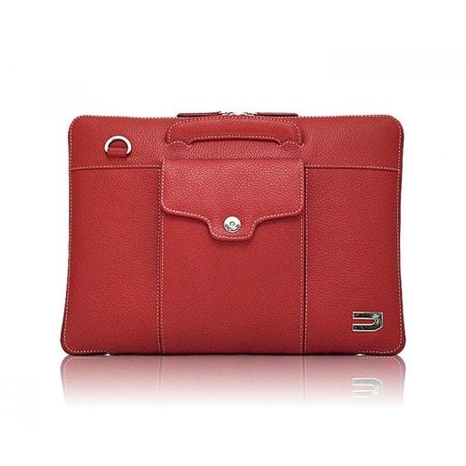 """Сумка Urbano Compact Brief для ноутбука MacBook Pro 13"""" с Touch Bar. Материал кожа. Цвет красный."""
