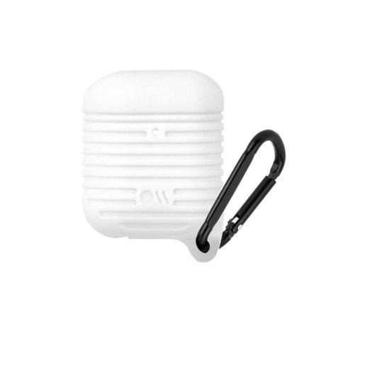 Чехол Case-Mate AirPods Water Resistant для футляра с возможностью беспроводной зарядки наушников AirPods 1 и 2. С карабином.
