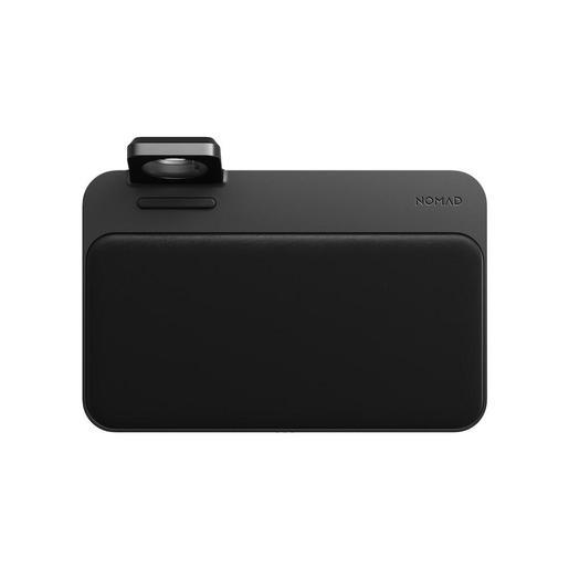 Беспроводное зарядное устройство Nomad Base Station Charger Apple Watch Mount Edition со встроенной подставкой для зарядки Apple Watch. Порты: USB-C PD 18 Вт , USB-A 7,5 Вт. Материал верха: 100% натуральная кожа. Цвет: черный.