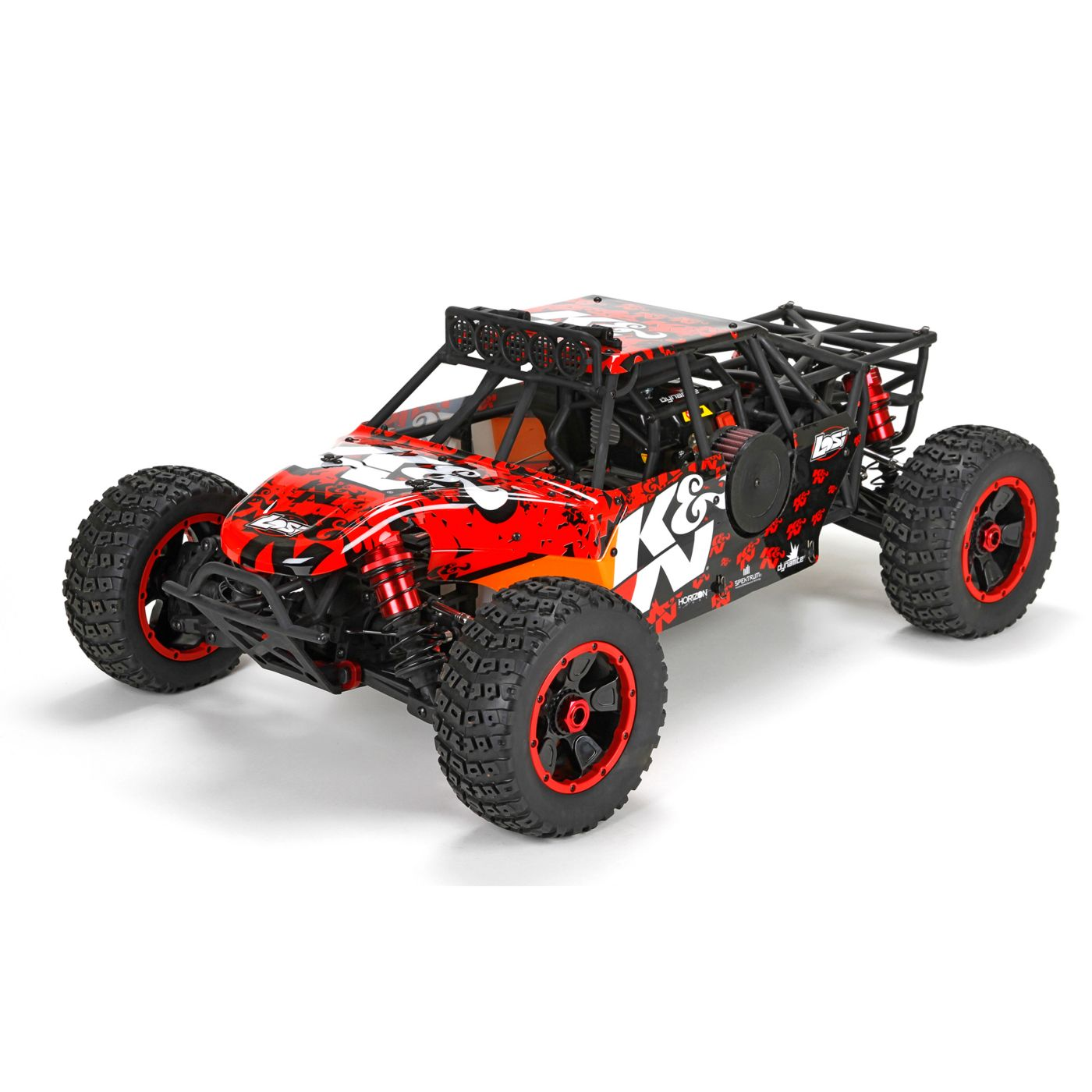 Team Losi Радиоуправляемая машина Багги 1/5 4x4 - Desert Buggy XL K&H Бензин RTR