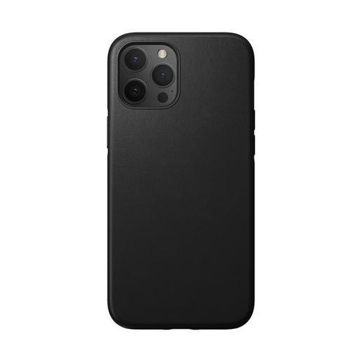 """Чехол Nomad Rugged Case для iPhone 12 Pro Max (6.7""""). Материал верха: кожа натуральная. Цвет: черный."""