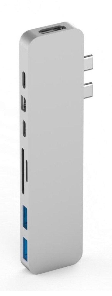 USB-концентратор HyperDrive PRO 8-in-2 GN28D для MacBook Pro 2016/2017 (Silver)