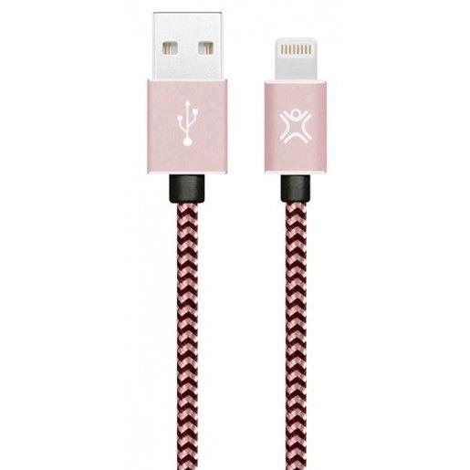Кабель XtremeMac Premium Lightning to USB. Оплетка сделана из нейлона. Длина 1,2м. Цвет розовое золото.