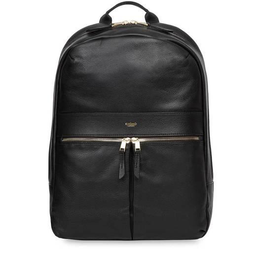 """Рюкзак Knomo Beaux для ноутбука до 14"""" дюймов. Материал кожа натуральная. Цвет черный."""
