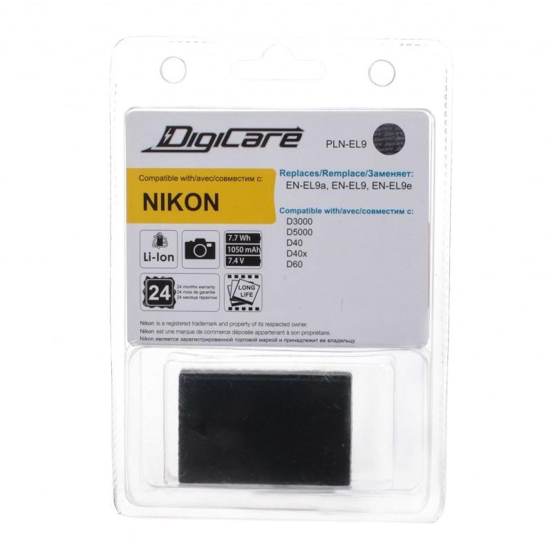 Аккумулятор DigiCare PLN-EL9 / EN-EL9a, EN-EL9 для D3000, D5000, D60