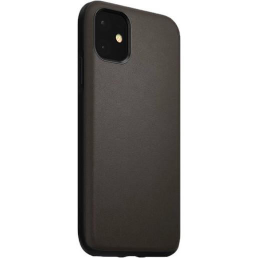 Чехол Nomad Active Rugged Waterproof Case для iPhone 11 Pro. Материал кожа натуральная водоотталкивающая. Цвет темно-коричневый (Mocha Brown).