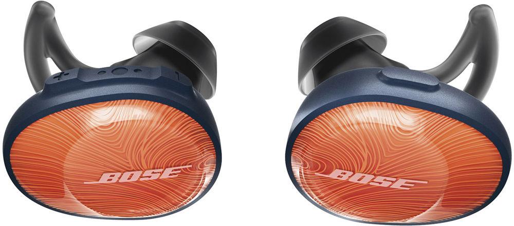 Bluetooth-наушники Bose SoundSport Free с микрофоном (Bright Orange)