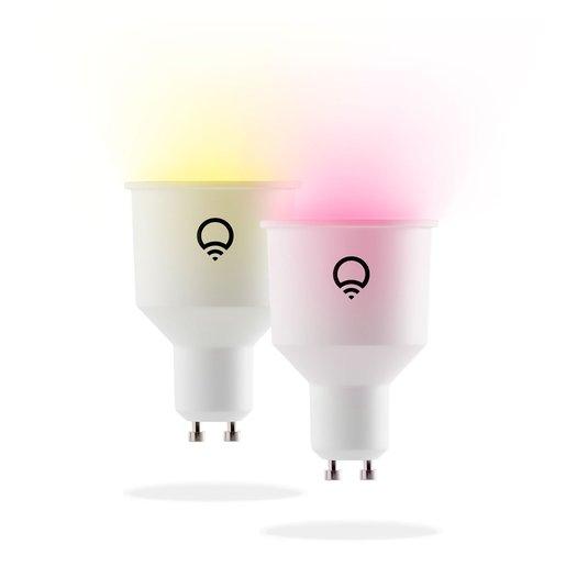 Набор умных беспроводных светодиодных ламп LIFX Colour GU10 2 шт. Разъем GU10.