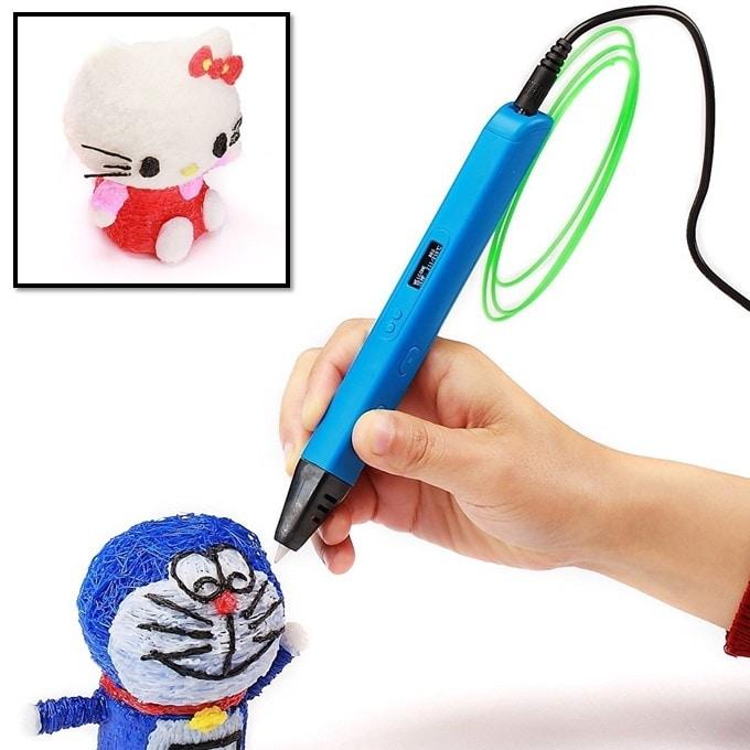 Ручки с OLED экраном Jer RP800A (голубой) | 3D ручки