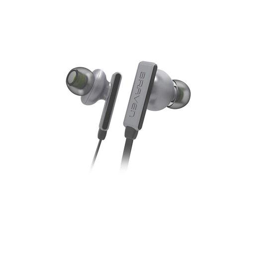 Беспроводные внутриканальные наушники с микрофоном Braven Flye Sport. Цвет серебряныйзеленый.