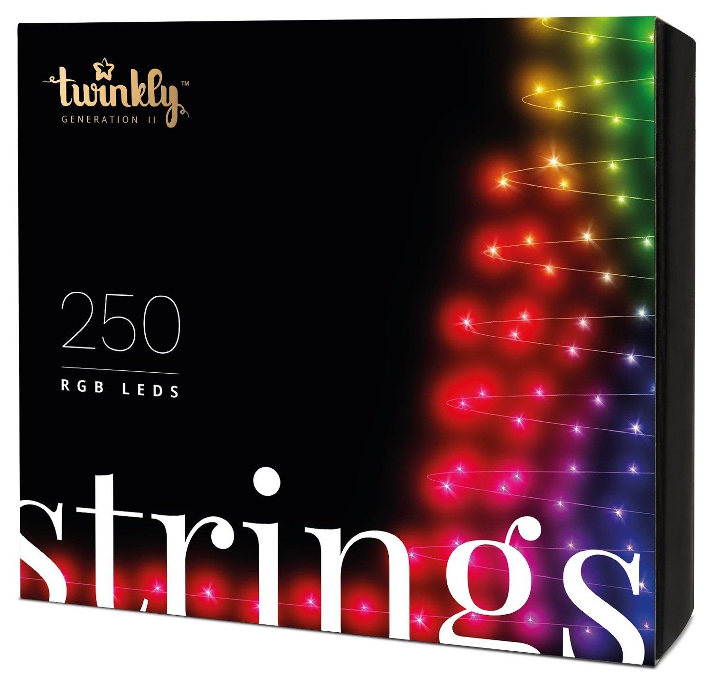 Smart-гирлянда Twinkly Strings RGB 250 (TWS250STP-BEU)
