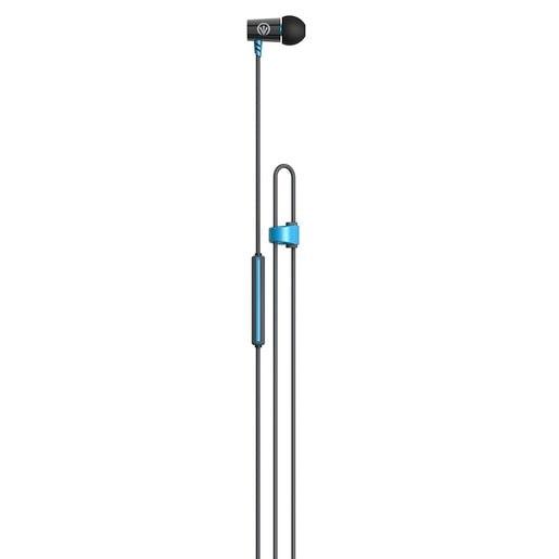 Наушники iFrogz Luxe Air с микрофоном вставные. Цвет синий.